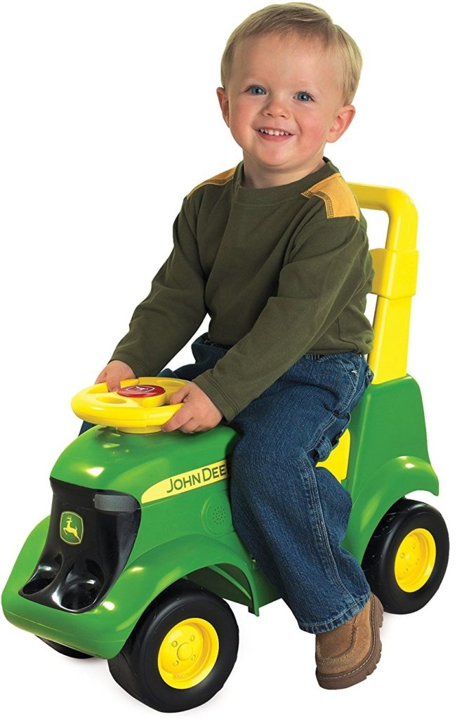 Sit N Scoot John deere toy tractor